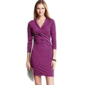 Banana Republic Wild Orchids Ruched Knit Jersey
